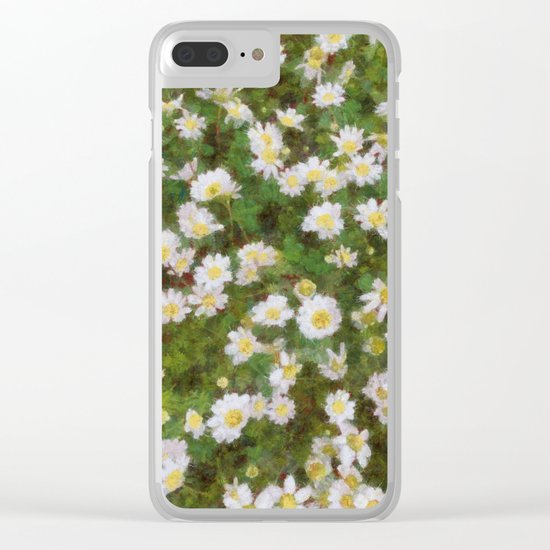 Daisies In Spring Clear iPhone Case