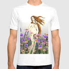 Venus and flower Mens Fitted Tee MEDIUM White