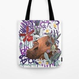 Graffiti Gorilla Philosopher Monkey Black Jungle Tote Bag