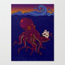 Deep Sea Sunken Ship Canvas Print