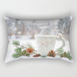 winter warmth Rectangular Pillow