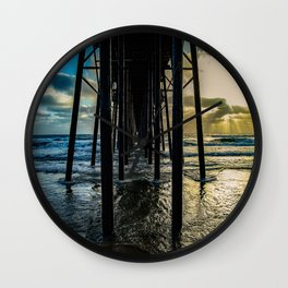 Sky Painting (Oceanside Pier) ~ 10-2015 Wall Clock