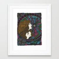 virgo Framed Art Prints featuring Virgo by Laura Jean