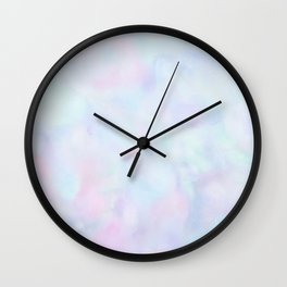 Rainbow Unicorn Pastel Fluffiness Wall Clock