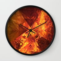 lotr Wall Clocks featuring Into Mount Doom by Lyle Hatch