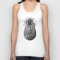 ornate Tank Tops featuring Ornate Pineapple by BIOWORKZ