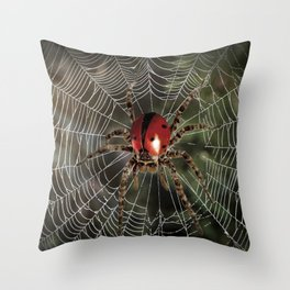 Ladyspider Throw Pillow