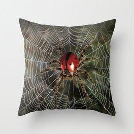 Ladyspider Throw Pillow