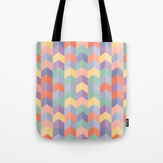 Colorful geometric blocks Tote Bag