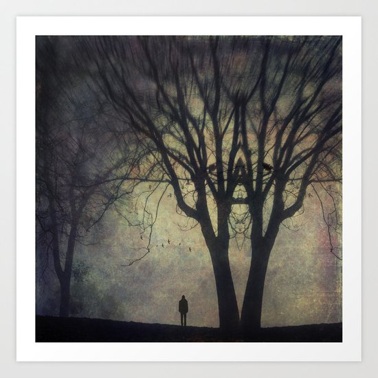 Rorschach-Tree Art Print