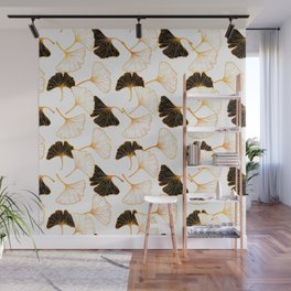 Ginkgo Leaf (Golden Calico) - White Wall Mural
