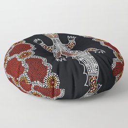 Crocodile - Authentic Aboriginal Art Floor Pillow