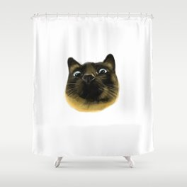 Applehead Siamese Cat Shower Curtain