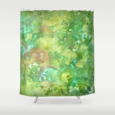 Greenwoods Abstract Shower Curtain