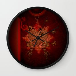 Wonderful heart made of metal Wall Clock