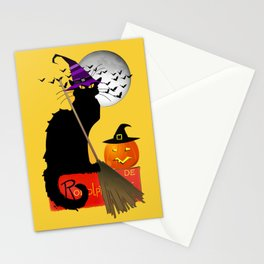 Le Chat Noir - Halloween Witch Stationery Cards