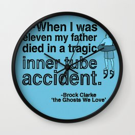 A Tragic Inner Tube Accident Wall Clock