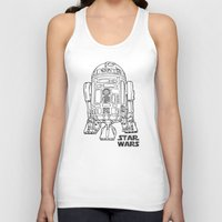 r2d2 Tank Tops featuring r 2 d 2 by Vickn