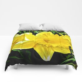 The Yellow Daffodil Happy Easter Comforters