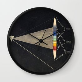 Decomposition of Light Vintage Illustration by Edward Livingston Youmans Wall Clock
