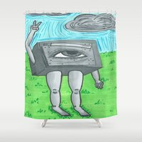 technology Shower Curtains featuring Technology life by Diane McGregor Art