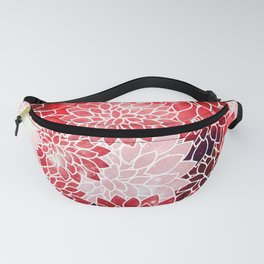 Red Space Dahlias Fanny Pack
