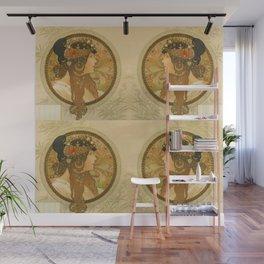 "Alphonse Mucha ""Byzantine Head: The Brunette"" Wall Mural"
