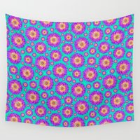 dahlia Wall Tapestries featuring Dahlia by Bunyip Designs