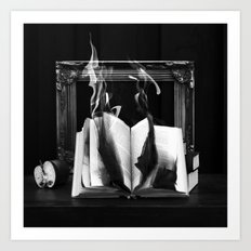 The burning book  Art Print