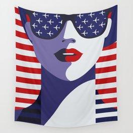USA Flygirl Wall Tapestry