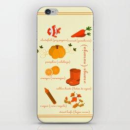 Colors: orange (Los colores: naranja) iPhone Skin