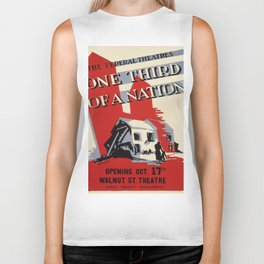 Vintage poster - One Third of a Nation Biker Tank