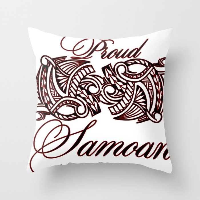 Proud Samoan Throw Pillow By Lonicaphotography Polydesigns Society6