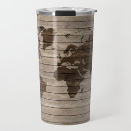 Rustic world map Travel Mug