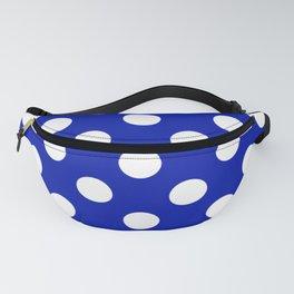 Zaffre - blue - White Polka Dots - Pois Pattern Fanny Pack