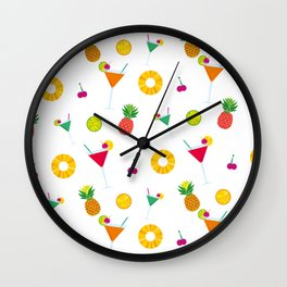 Tropical Cocktail Party Anyone Wall Clock