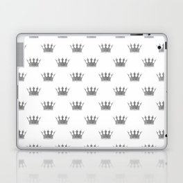 Wedding White Silver Crowns Laptop & iPad Skin
