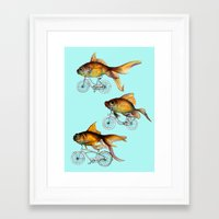 fish Framed Art Prints featuring fish by Кaterina Кalinich