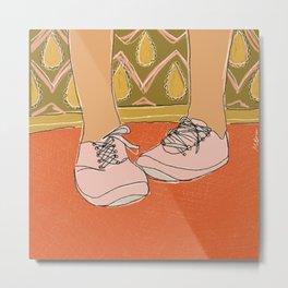 Nervous Feet Metal Print