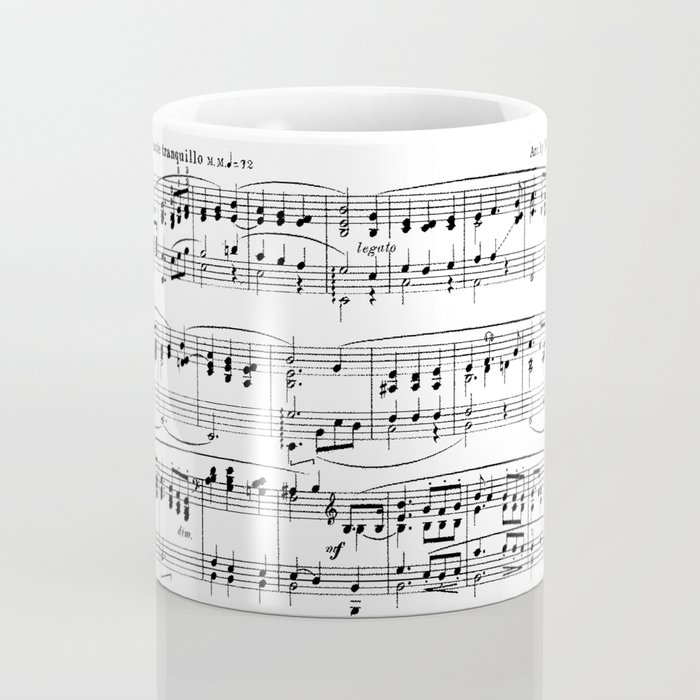 Mendelssohn Classical Sheet Music Coffee Mug