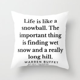 27  | Warren Buffett Quotes | 190823 Throw Pillow