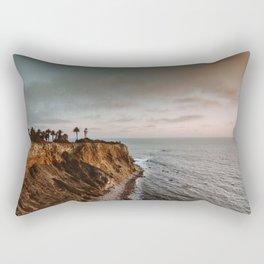 California Lighthouse Sunset Rectangular Pillow