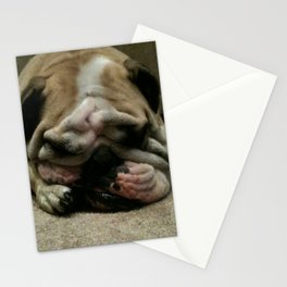 Bulldog Sleeping Stationery Cards