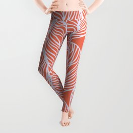 petaluma: orange leaf pattern Leggings
