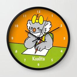 Koalita at school Wall Clock