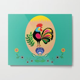Polish Folk - Decorative Easter Egg Metal Print