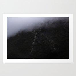 Mountain Series - Milford Sound Waterfall Art Print