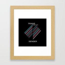 Transcend Gender Alternate Framed Art Print