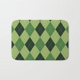 Argyle greens Bath Mat