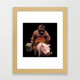 Hog Rider Framed Art Print